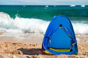 Windschutz für den Strand